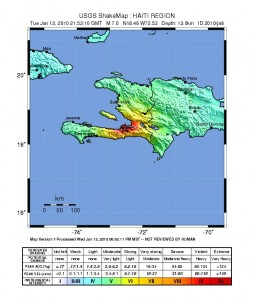 USGS Shakemap of 12 Jan 2010 Haiti Earthquake