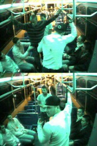 bus assault surveillance images