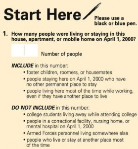 IMAGE: 2010 Census instructions