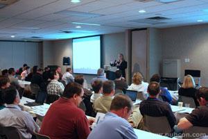 Carolyn Shelby presenting at Dallas PubCon Training