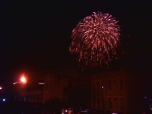 Fireworks over Downtown Lafayette via http://www.flickr.com/photos/josette/
