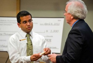 Ankit Gupta at Purdue Elevator Pitch Competition