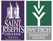 Saint Joseph's College and Ivy Tech-Lafayette logos