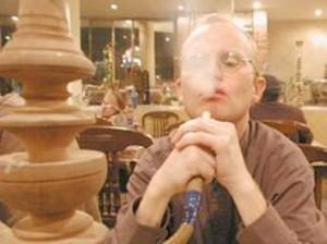 Man smoking salvia