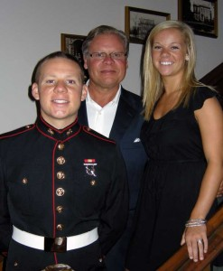 PVT Ronnie Alting, Jr., Sen. Ron Alting and Ashley Alting