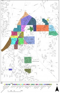 Map of Lafayette Indiana Neighborhoods