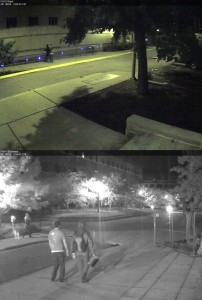 Security images of alleged graffiti artists wanted for questioning by Purdue police